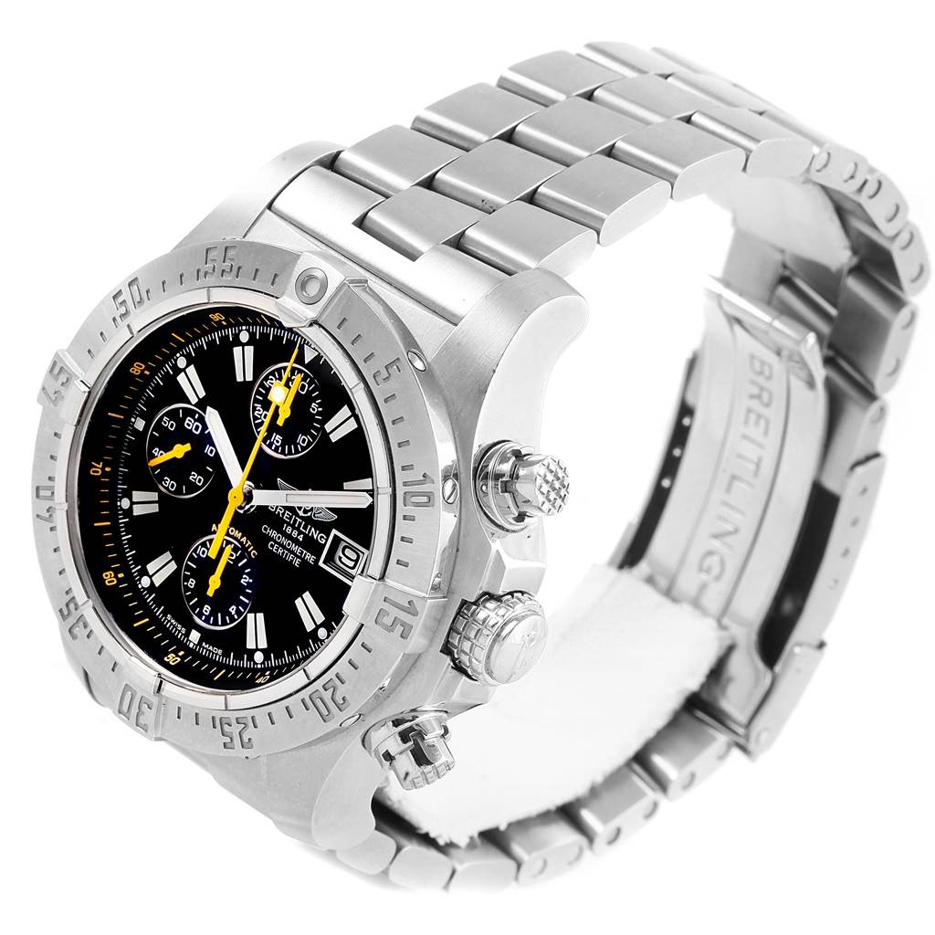 17286 Breitling Avenger Skyland Code Yellow Limited Edition Watch A13380 Box Papers SwissWatchExpo