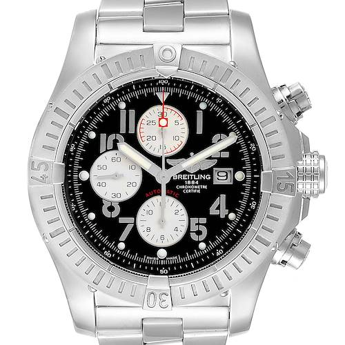 Photo of Breitling Aeromarine Super Avenger Black Dial Mens Watch A13370