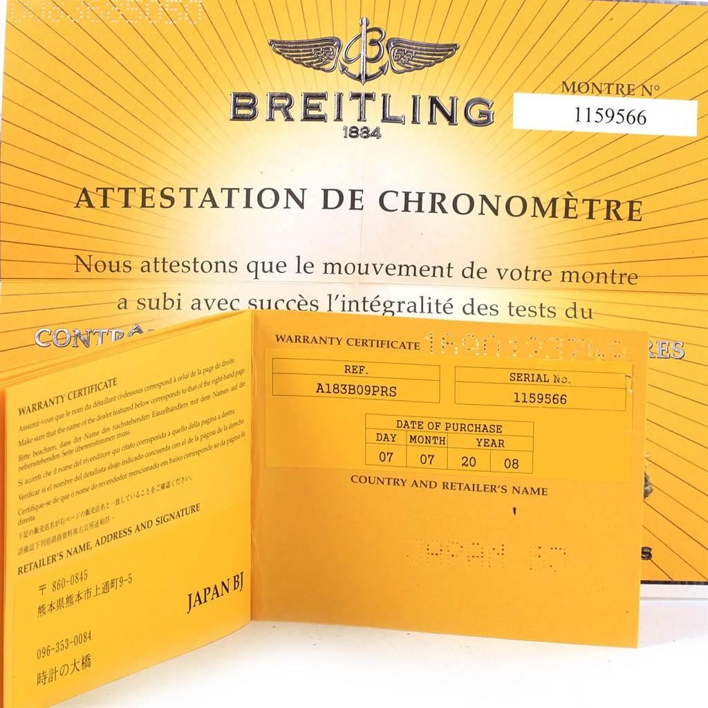 Breitling Aeromarine SuperOcean Steel Mens Watch A13360 Papers SwissWatchExpo