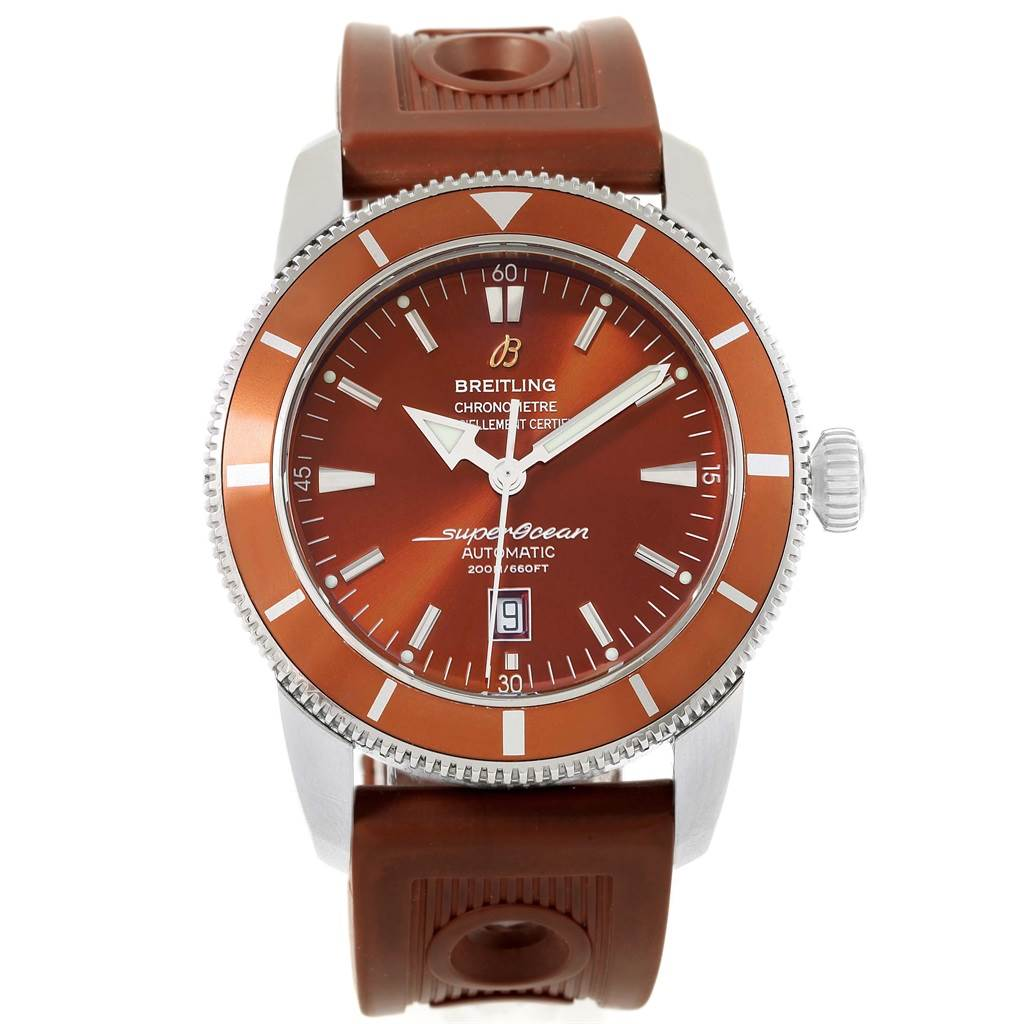 17342 Breitling Superocean Heritage 46 Bronze Dial Rubber Strap Watch A17320 SwissWatchExpo
