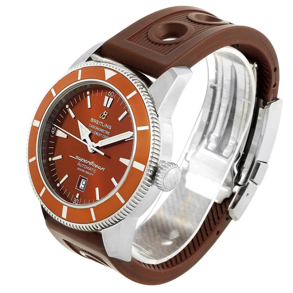 Breitling Superocean Heritage 46 Bronze Dial Rubber Strap Watch A17320 SwissWatchExpo