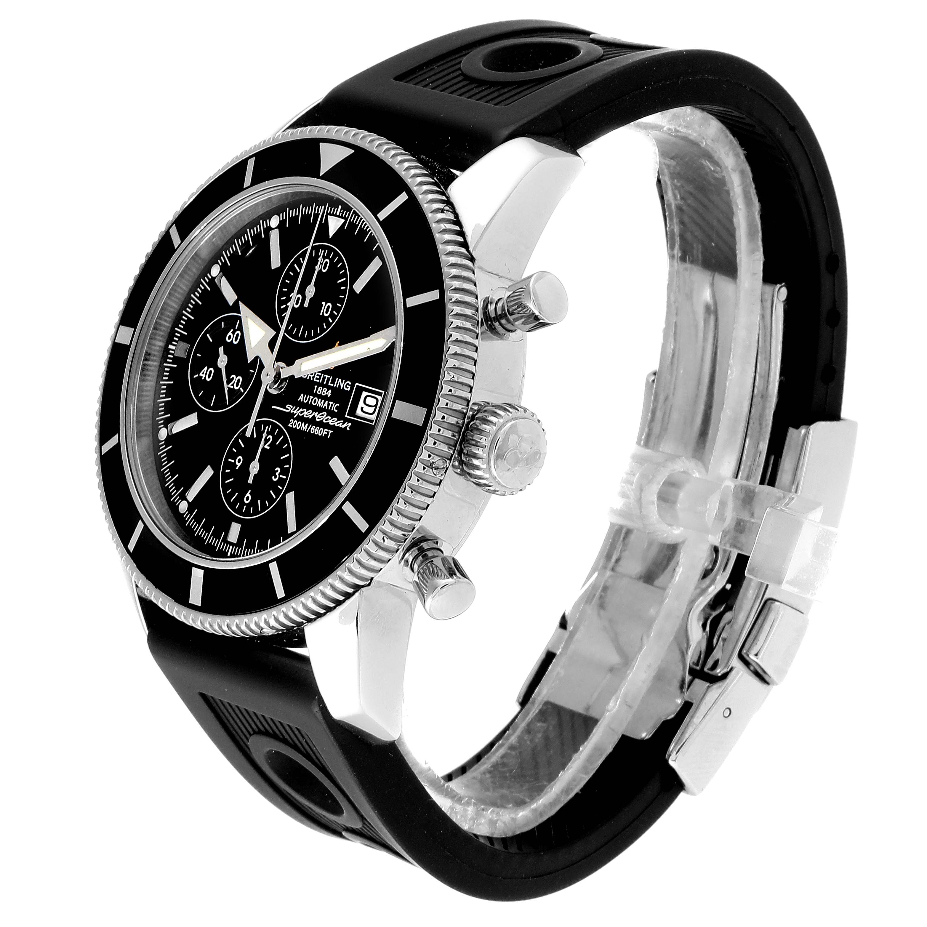 Breitling SuperOcean Heritage Chrono 46 Black Dial Mens Watch A13320 SwissWatchExpo