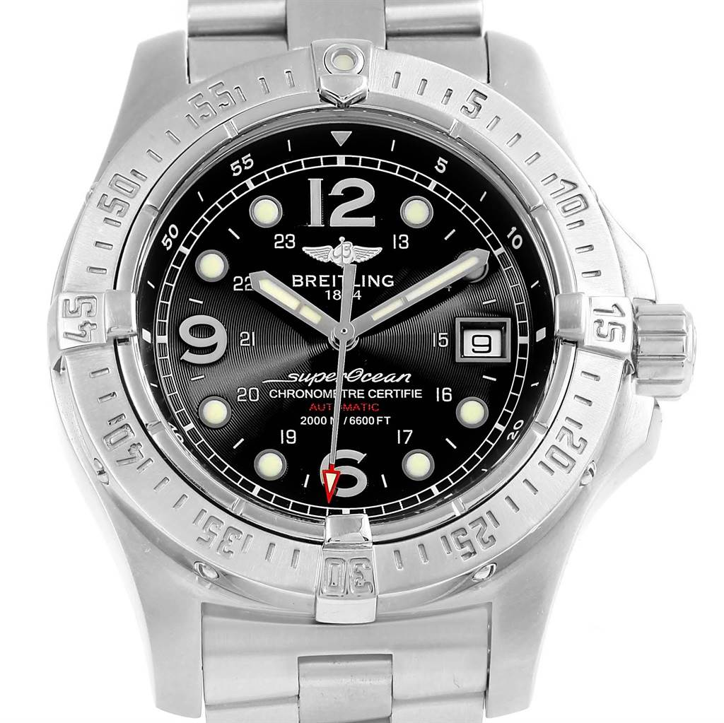 16123 Breitling Aeromarine Superocean Steelfish Watch A17390 Papers SwissWatchExpo