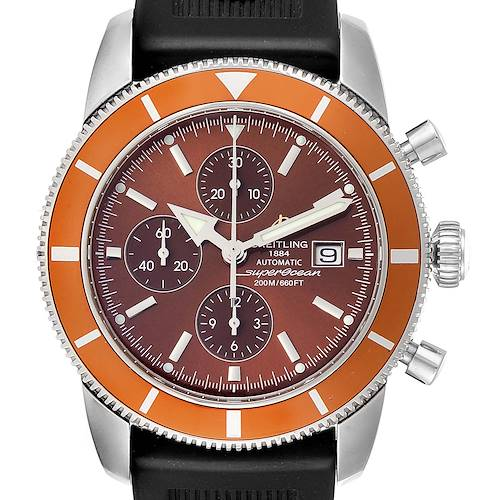 Photo of Breitling SuperOcean Heritage Chrono 46 Rubber Strap Mens Watch A13320