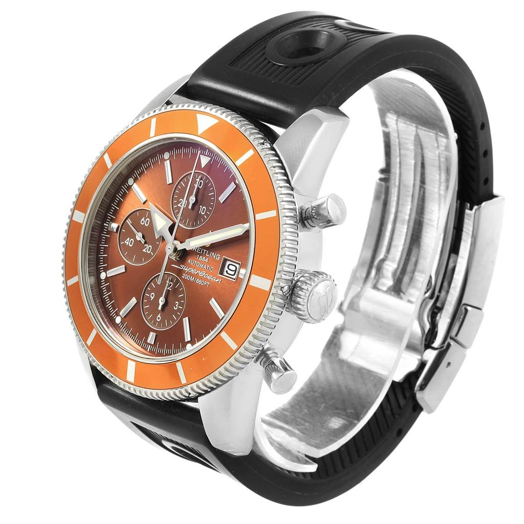 16839 Breitling SuperOcean Heritage Chrono 46 Rubber Strap Mens Watch A13320 SwissWatchExpo