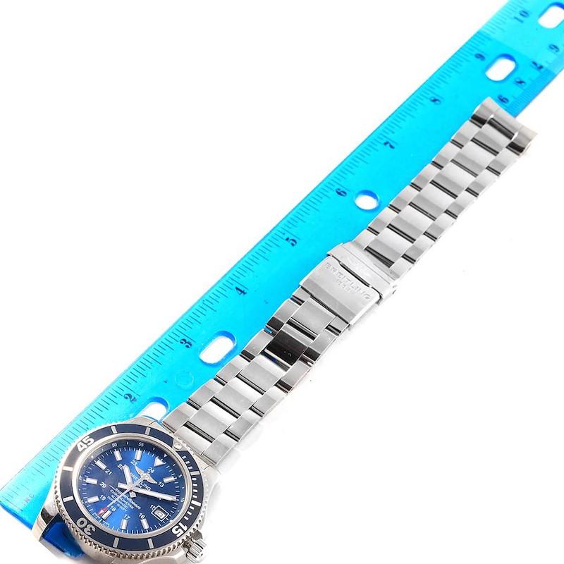 Breitling Superocean II Blue Dial Steel Mens Watch A17365 SwissWatchExpo