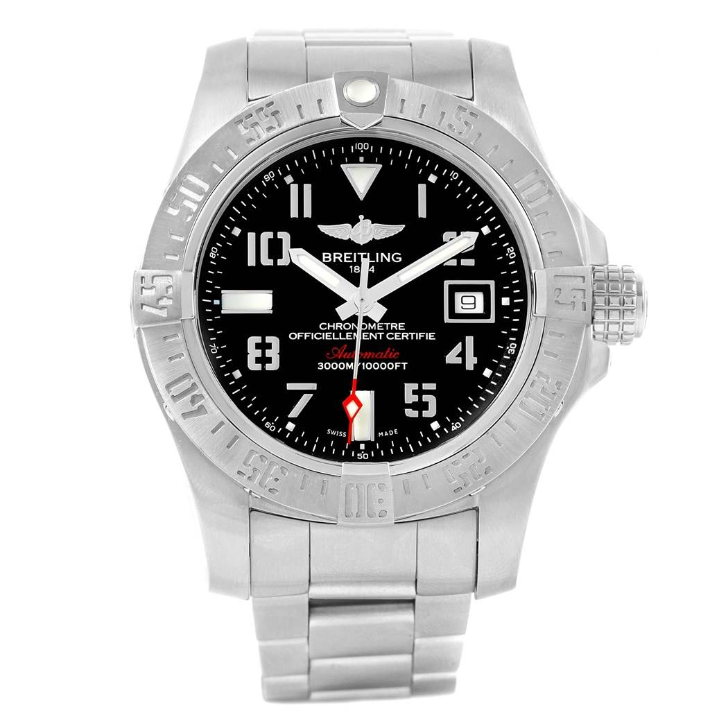Breitling Aeromarine Avenger II Seawolf Mens Watch A17331 Box Papers SwissWatchExpo