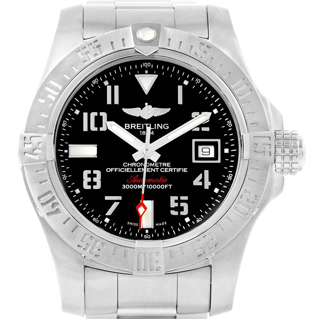 17670 Breitling Aeromarine Avenger II Seawolf Mens Watch A17331 Box Papers SwissWatchExpo