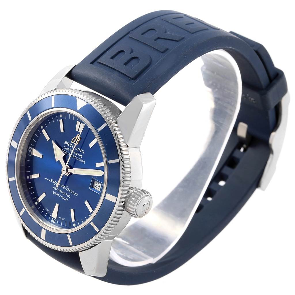 Breitling Superocean Heritage 42 Blue Dial Mens Watch A17321 Box Papers SwissWatchExpo