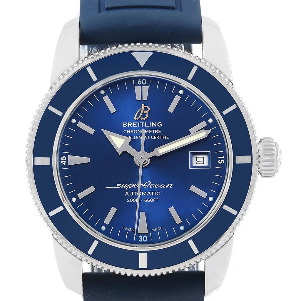 17718 Breitling Superocean Heritage 42 Blue Dial Mens Watch A17321 Box Papers SwissWatchExpo