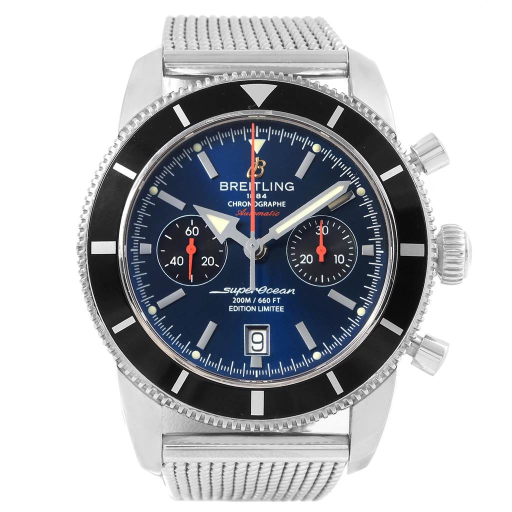 Breitling SuperOcean Heritage 125 Anniversary LE Watch A23320 Box Papers SwissWatchExpo