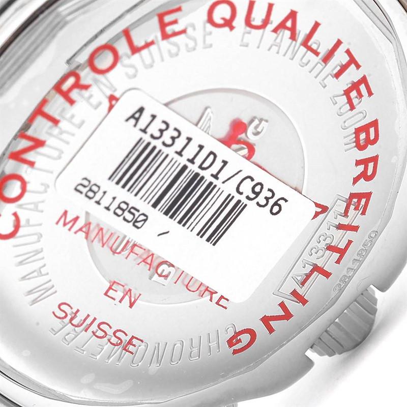 Breitling Superocean Chronograph 42 Blue Dial Steel Watch A13311 Unworn SwissWatchExpo
