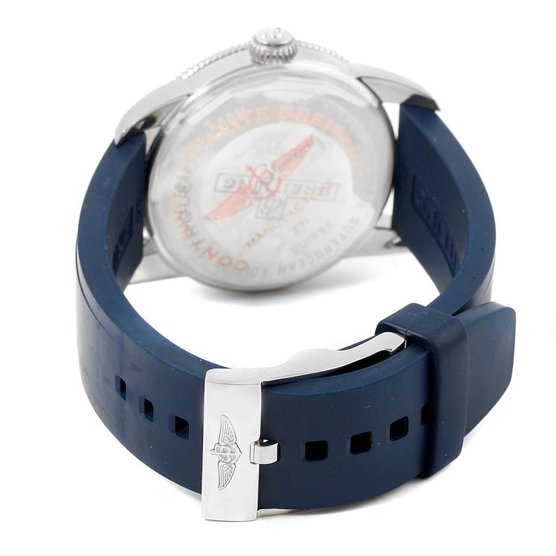 Breitling Superocean Heritage 42 Blue Dial Steel Mens Watch A17321 SwissWatchExpo