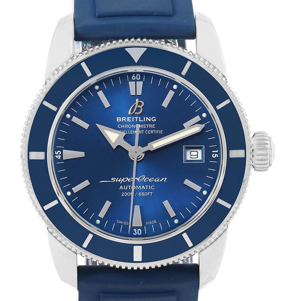17803 Breitling Superocean Heritage 42 Blue Dial Steel Mens Watch A17321 SwissWatchExpo