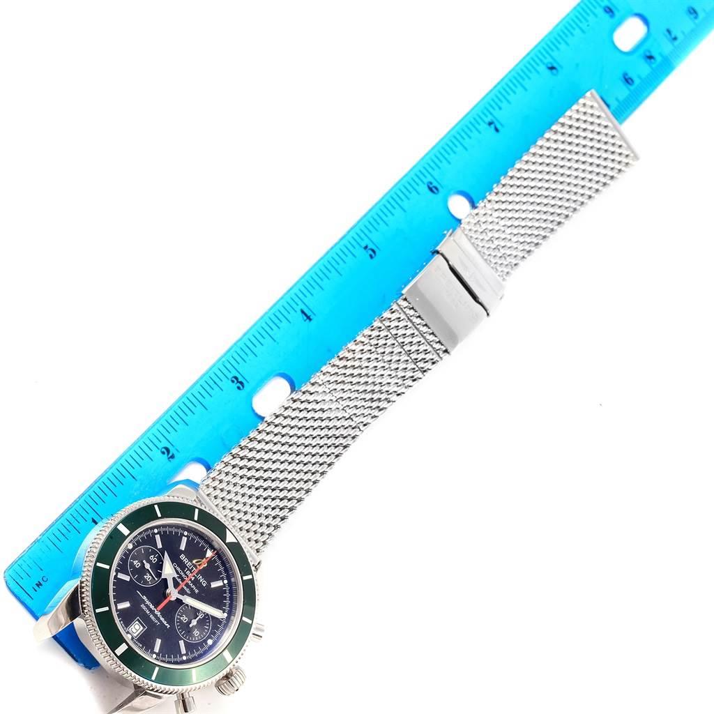 Breitling SuperOcean Heritage 44 Green Bezel Chronograph Watch A23370 SwissWatchExpo