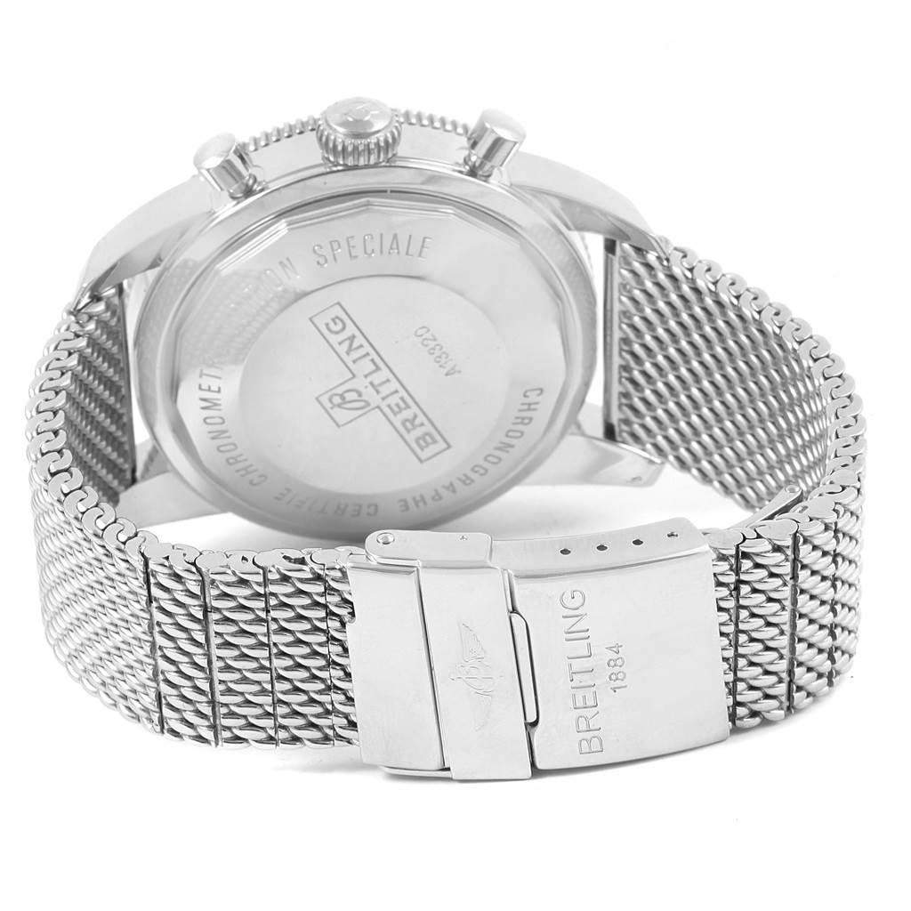 Breitling SuperOcean Heritage Chrono 46 Mesh Bracelet Watch A13320 SwissWatchExpo