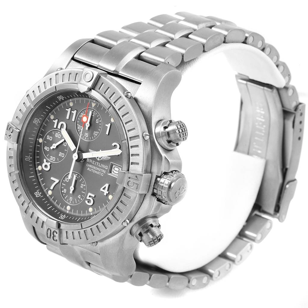 17965 Breitling Aeromarine Avenger Chronograph Titanium Watch E13360 Box Papers SwissWatchExpo