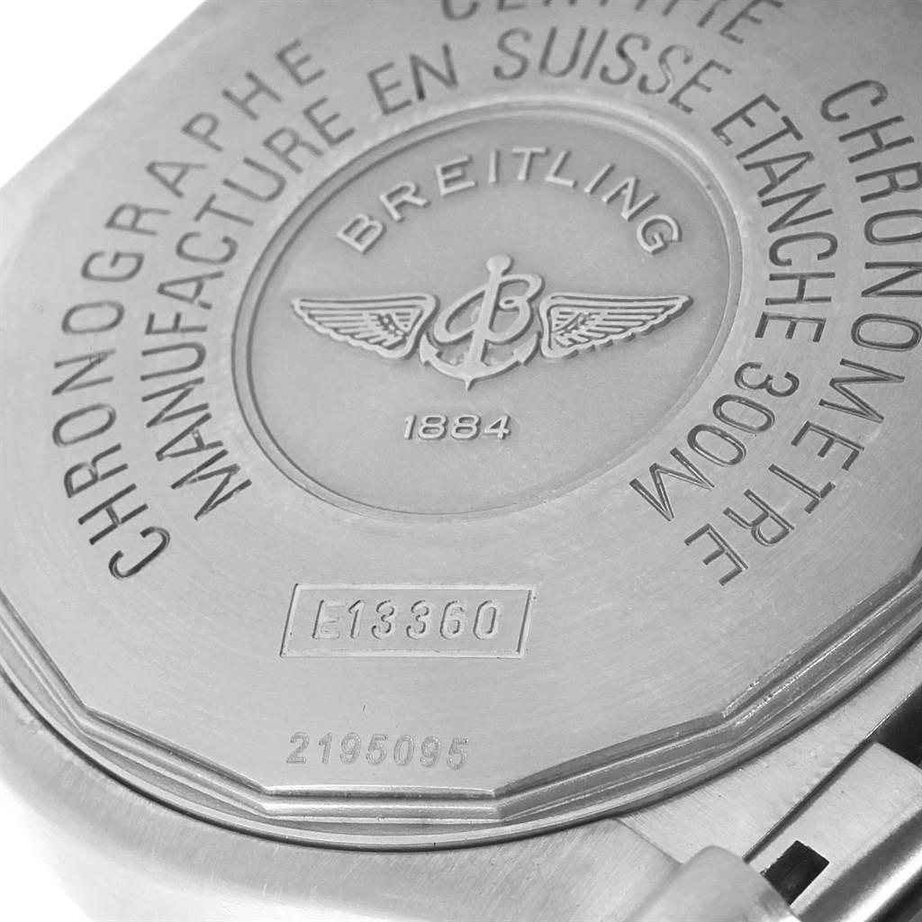 17964 Breitling Aeromarine Avenger Chronograph Titanium Watch E13360 Box SwissWatchExpo