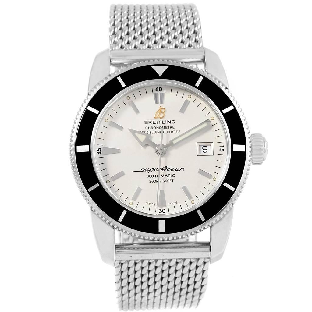 Breitling Superocean Heritage 42 Mesh Bracelet Watch A17321 Box Papers SwissWatchExpo