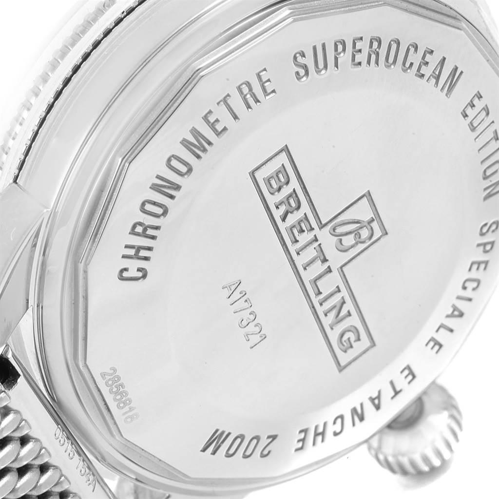 18127 Breitling Superocean Heritage 42 Mesh Bracelet Watch A17321 Box Papers SwissWatchExpo