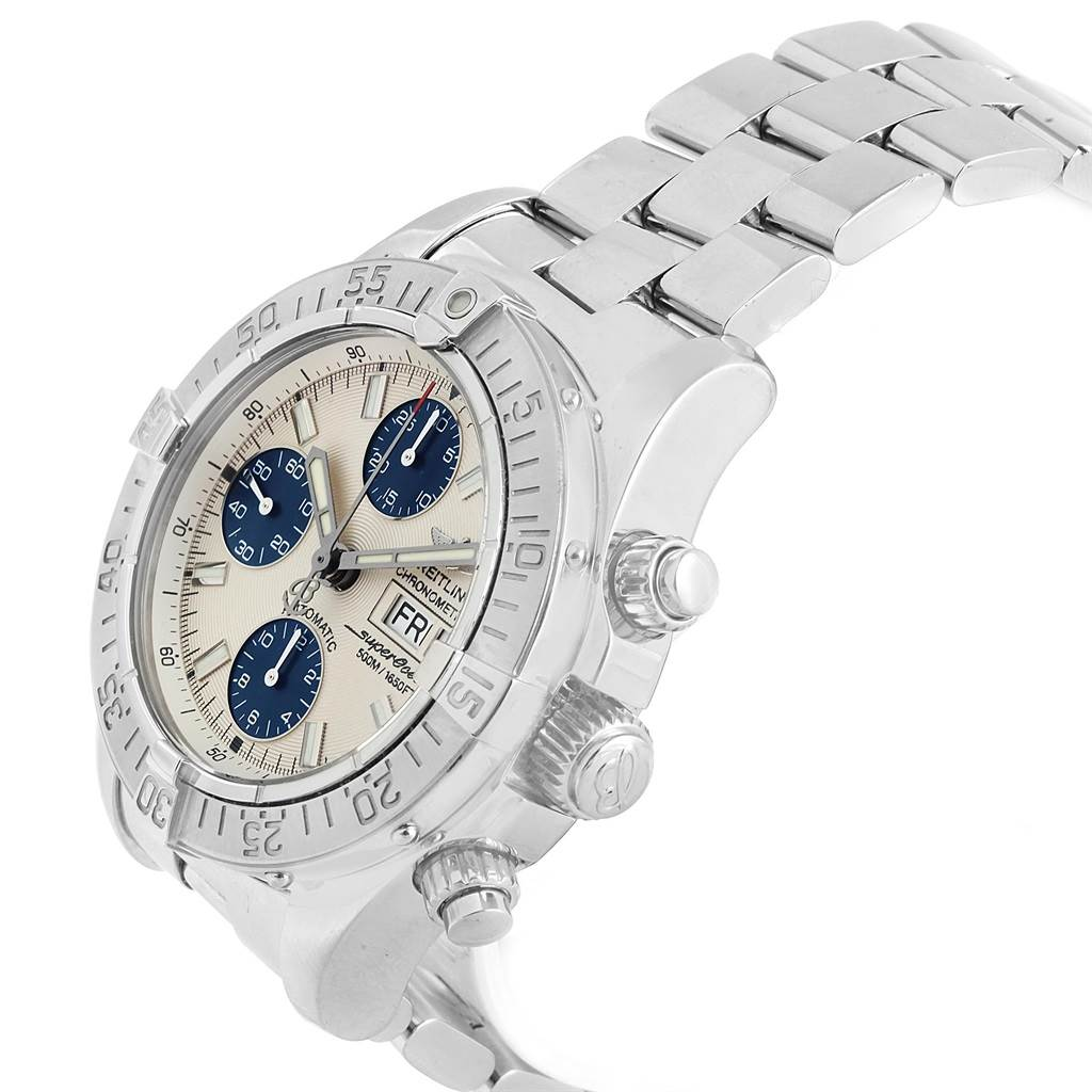 18444 Breitling Aeromarine Superocean Chronograph Watch A13340 Box Papers SwissWatchExpo