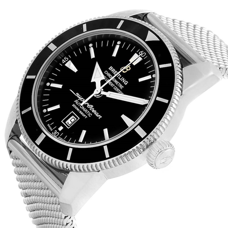 Breitling Superocean Heritage 42 Black Dial Watch A17320 Box Papers SwissWatchExpo