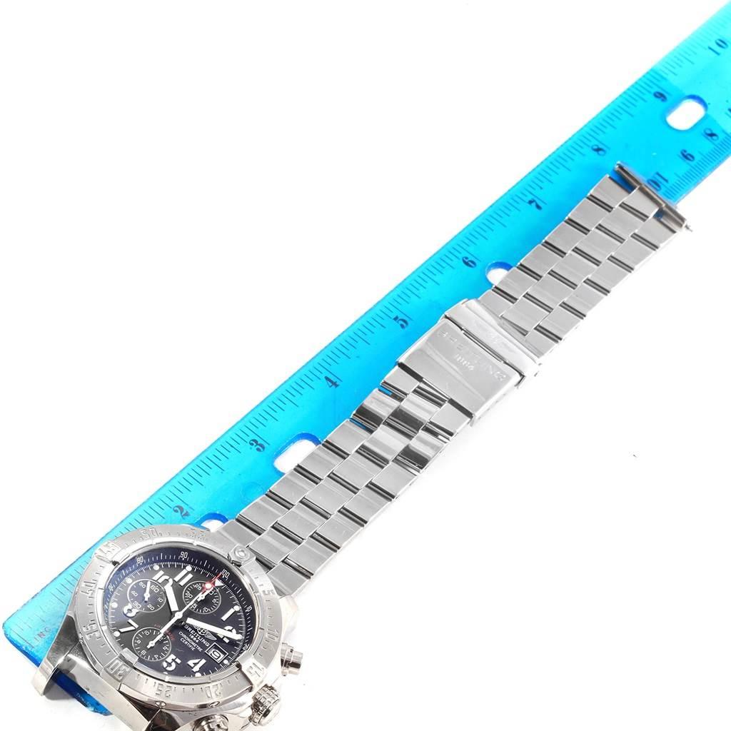 18461 Breitling Aeromarine Avenger Skyland Black Dial Mens Watch A13380 SwissWatchExpo
