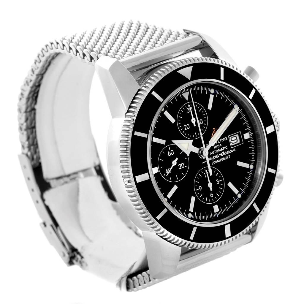 Breitling SuperOcean Heritage Chrono 46 Black Dial Watch A13320 SwissWatchExpo