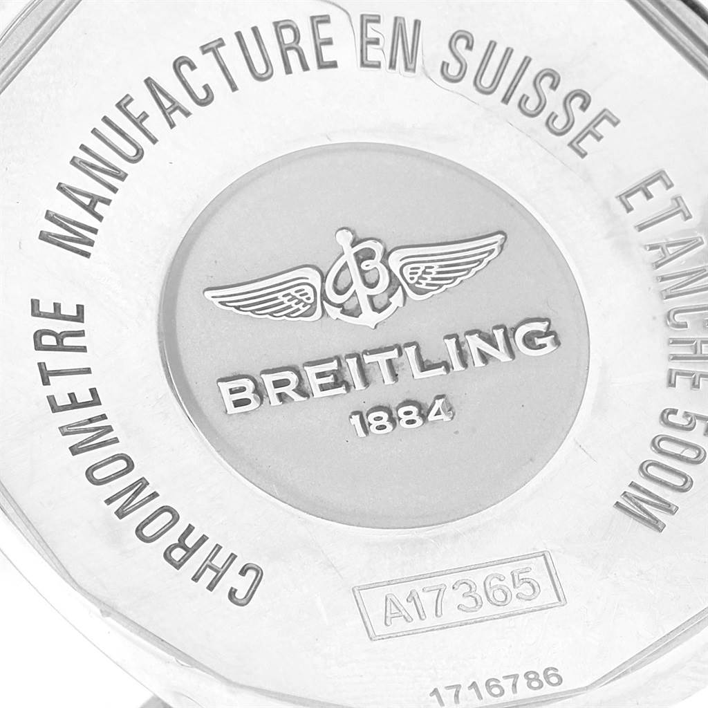 18514 Breitling Superocean II Blue Dial Steel Mens Watch A17365 Box Papers SwissWatchExpo