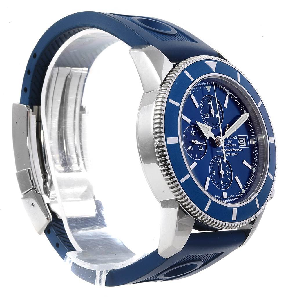 Breitling SuperOcean Heritage Chrono 46 Rubber Strap Watch A13320 SwissWatchExpo