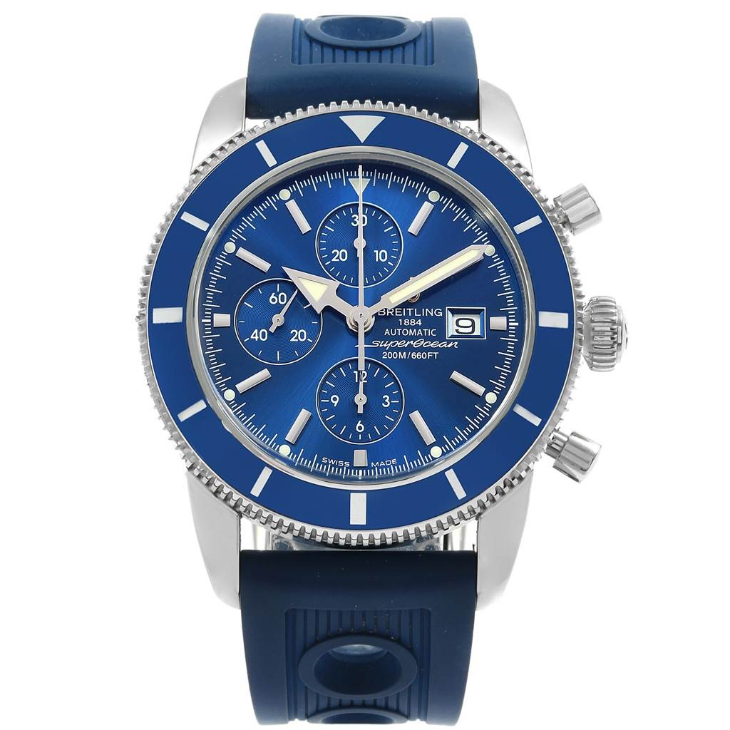 18382 Breitling SuperOcean Heritage Chrono 46 Rubber Strap Watch A13320 SwissWatchExpo