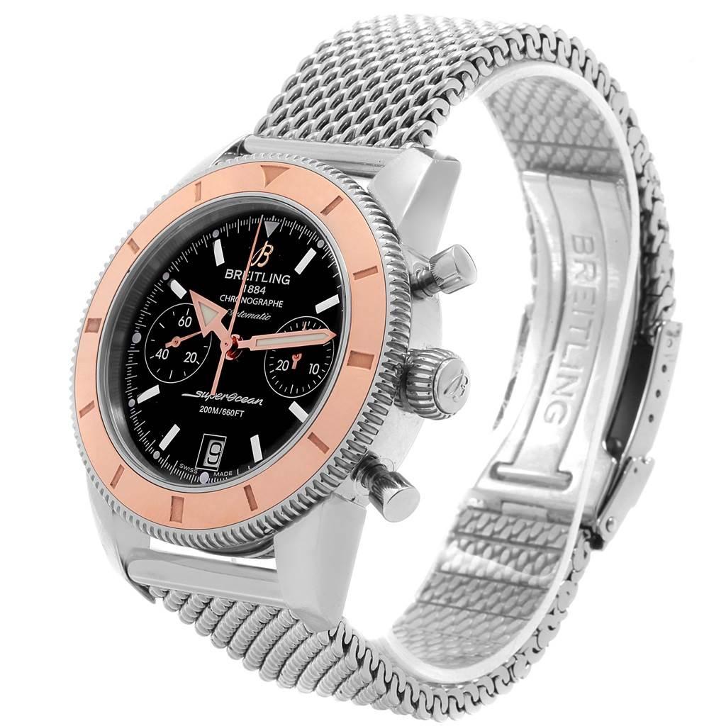 18556 Breitling SuperOcean Heritage 44 Steel Rose Gold Watch U23370 Box Papers SwissWatchExpo