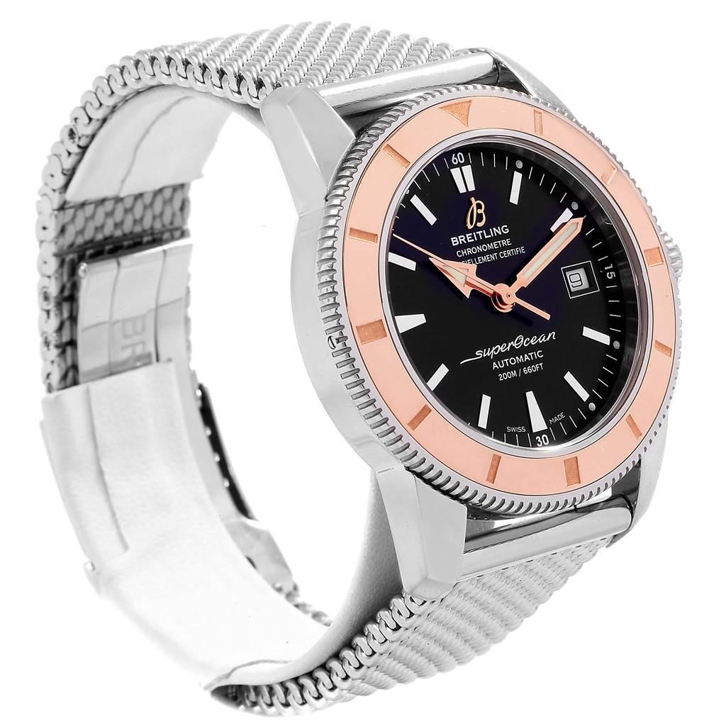 18272 Breitling Superocean Heritage Steel Rose Gold Watch U17321 Box Papers SwissWatchExpo
