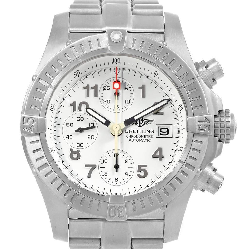 Breitling Aeromarine Avenger Chrono Titanium Watch E13360 Box Papers SwissWatchExpo