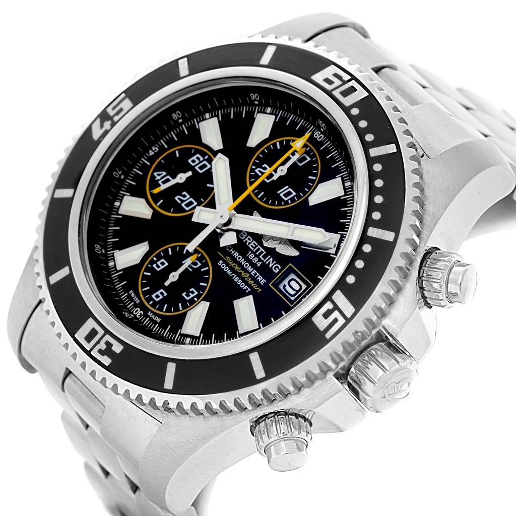 19201 Breitling Aeromarine SuperOcean II Chronograph Watch A13341 Box Papers SwissWatchExpo