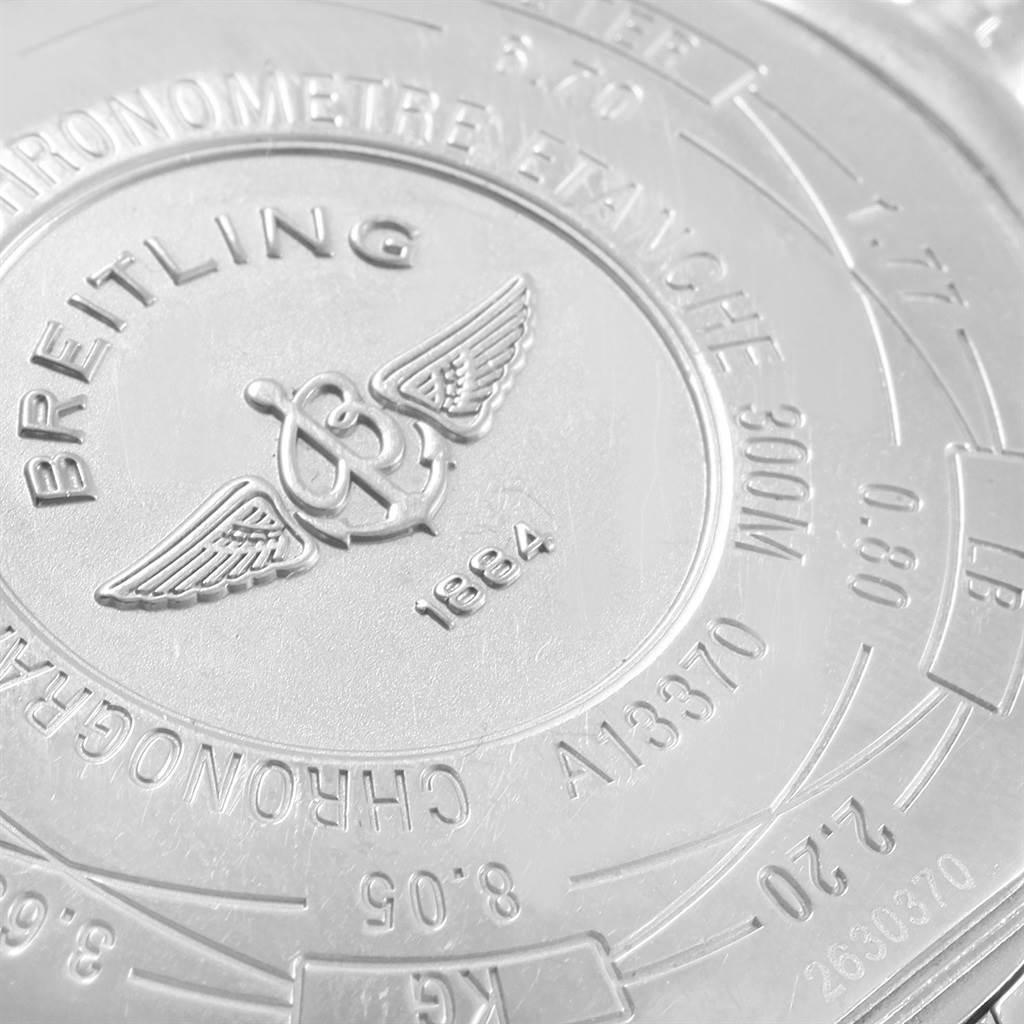 19312S Breitling Aeromarine Super Avenger Black Dial Mens Watch A13370 SwissWatchExpo