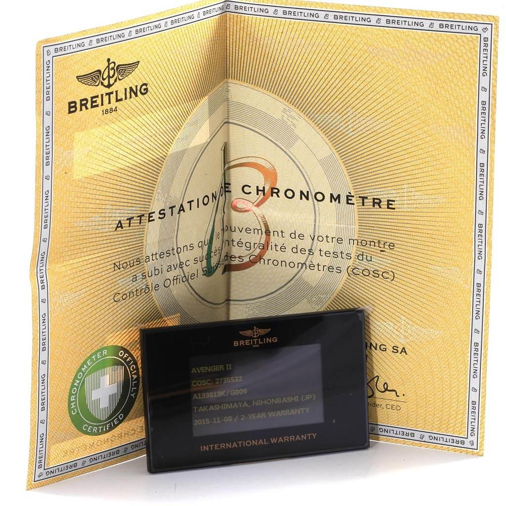 19369 Breitling Aeromarine Super Avenger Mens Watch A13381 Box Papers SwissWatchExpo