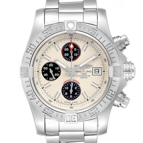 Photo of Breitling Avenger II Chronograph Mens Watch A13381 Box Papers