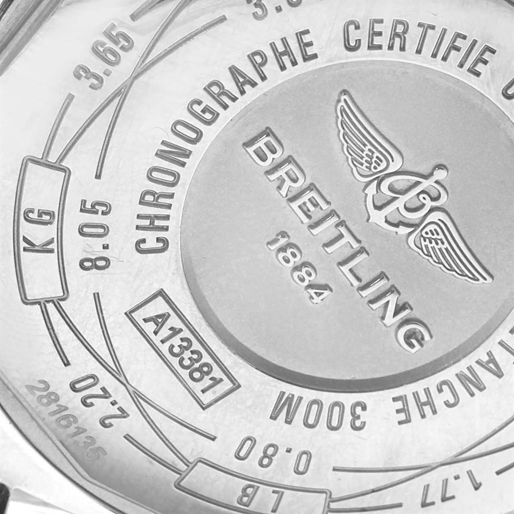 19370 Breitling Avenger II Chronograph Black Dial Watch A13381 Box Papers SwissWatchExpo