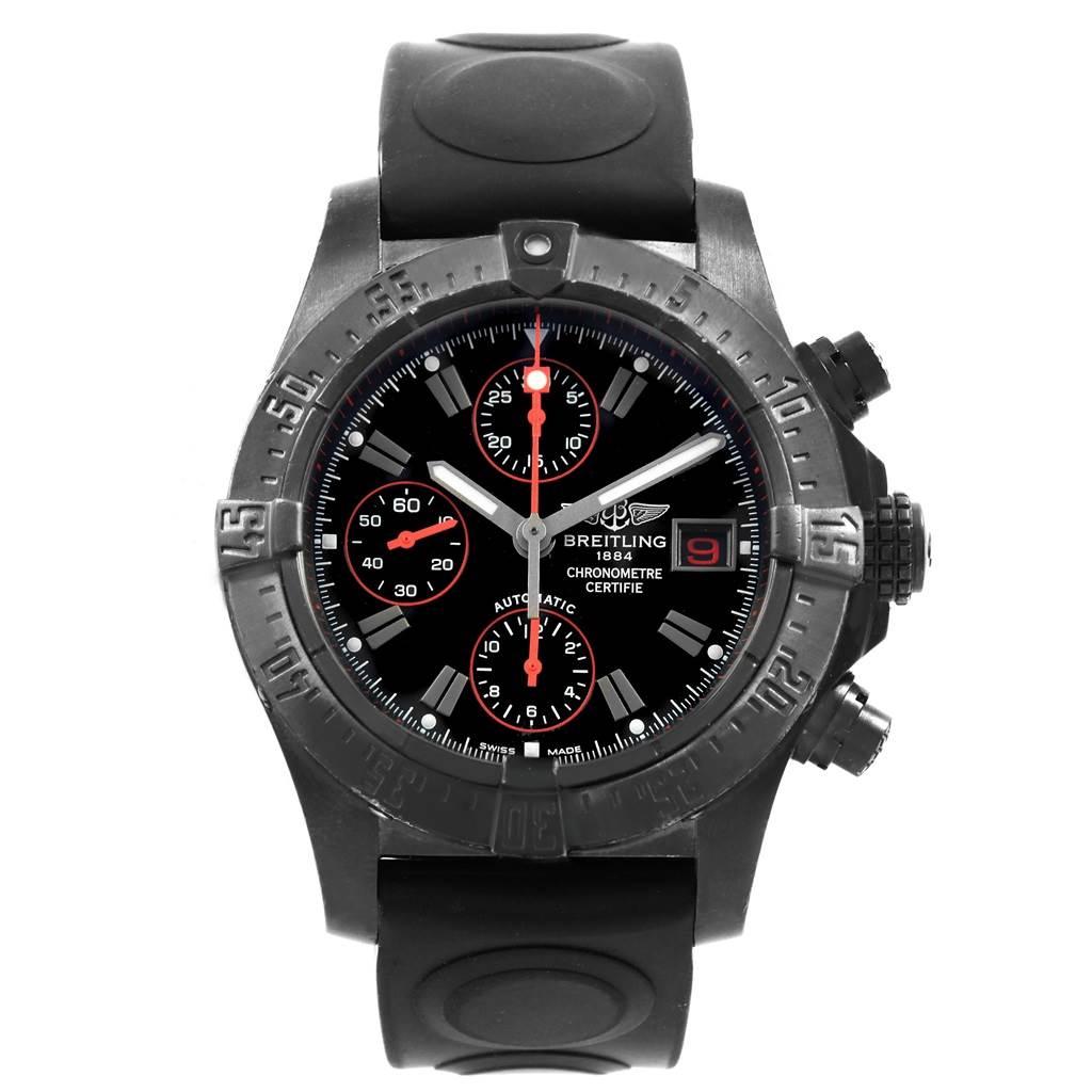 19371 Breitling Aeromarine Avenger Skyland Blacksteel Limited Watch M13380 SwissWatchExpo