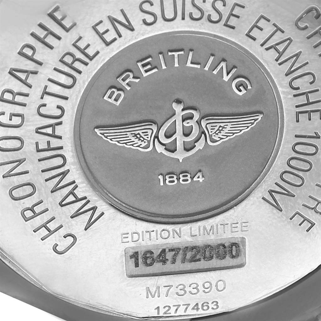 19338 Breitling Aeromarine Avenger Seawolf Blacksteel Watch M73390 SwissWatchExpo