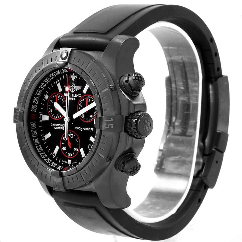 Breitling Aeromarine Avenger Seawolf Blacksteel Watch M73390 SwissWatchExpo