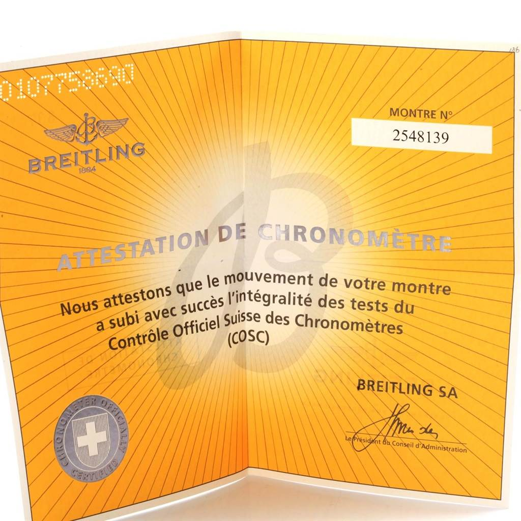 Breitling Aeromarine Super Avenger Mens Watch A13370 Box Papers SwissWatchExpo