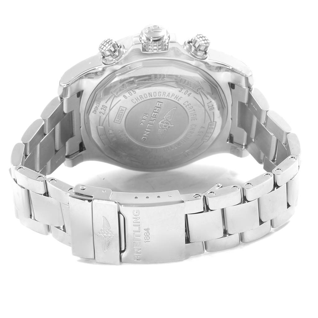19419 Breitling Aeromarine Super Avenger White Dial Steel Mens Watch A13371 SwissWatchExpo
