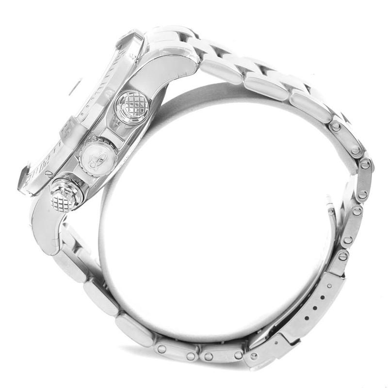 Breitling Aeromarine Super Avenger White Dial Steel Mens Watch A13371 SwissWatchExpo