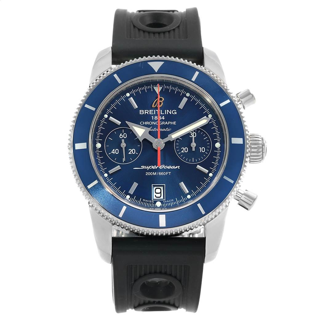 Breitling SuperOcean Heritage 44 Blue Dial Mens Watch A23370 Box Papers SwissWatchExpo