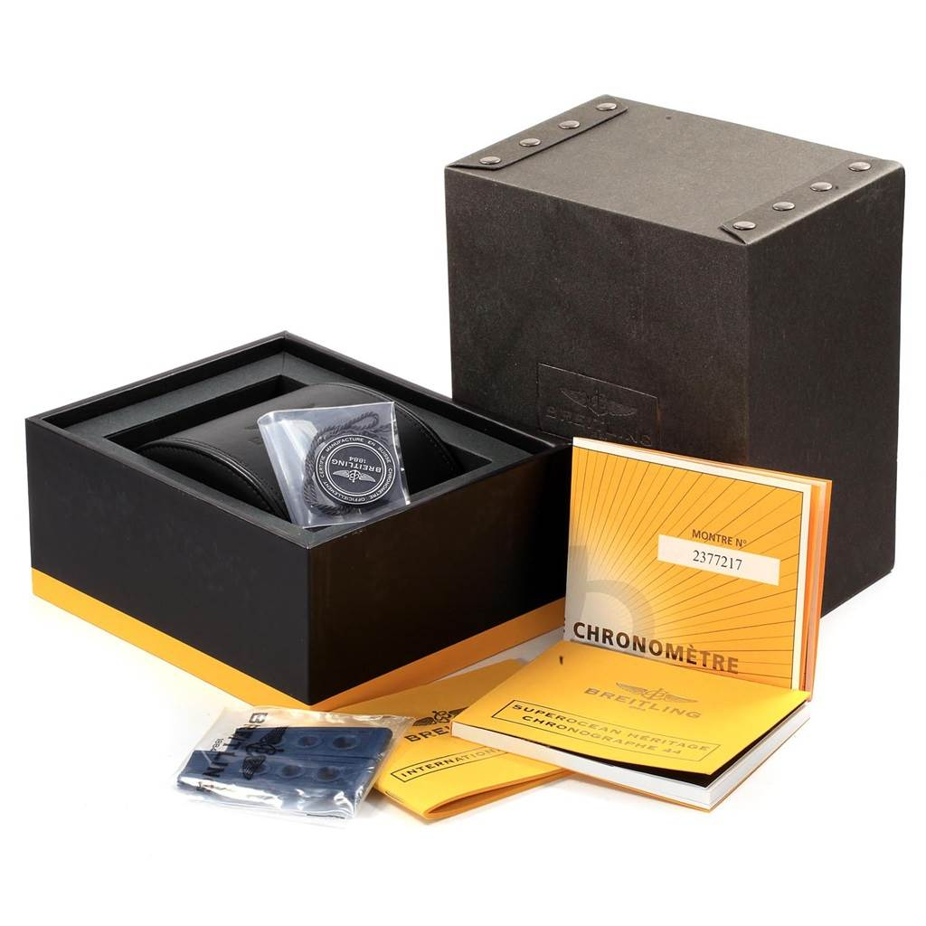 19472 Breitling SuperOcean Heritage 44 Blue Dial Mens Watch A23370 Box Papers SwissWatchExpo