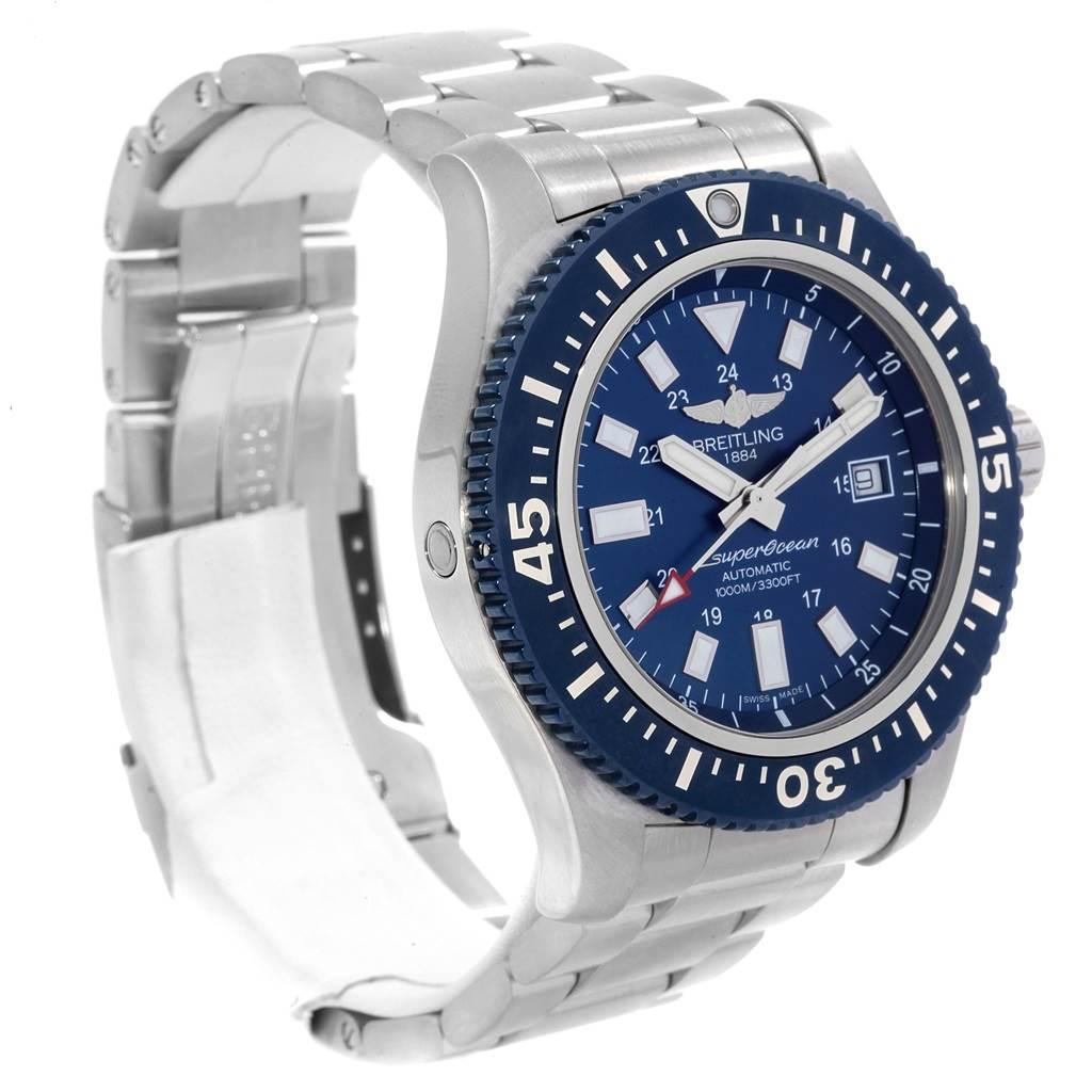 Breitling Aeromarine Superocean 44 Blue Dial Watch Y1739310 SwissWatchExpo