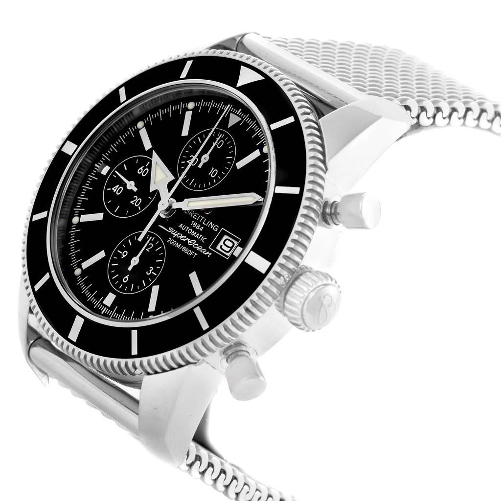 18973 Breitling SuperOcean Heritage Chrono 46 Black Dial Mens Watch A13320 SwissWatchExpo