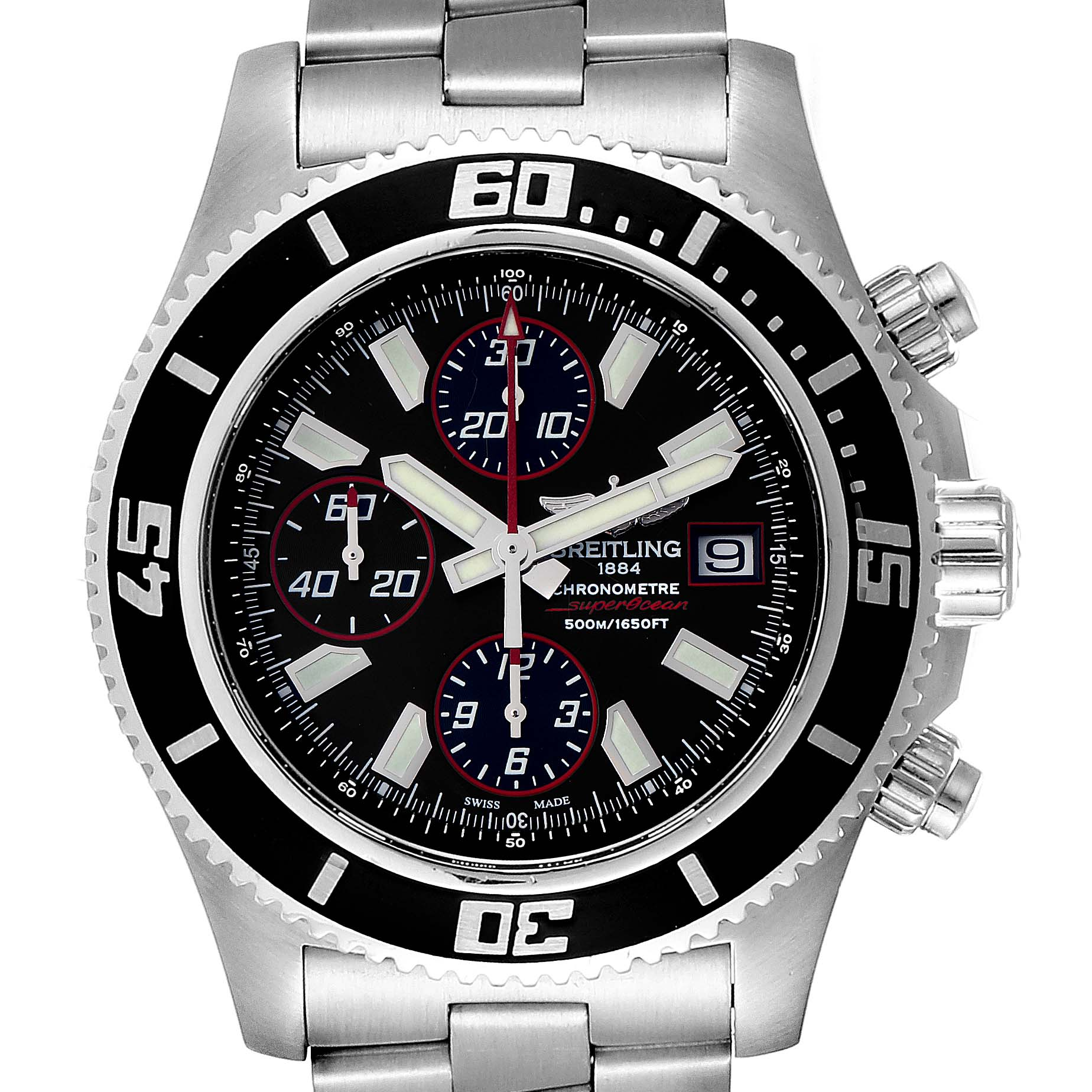 Breitling Aeromarine SuperOcean II Chronograph Watch A13341 Box Papers